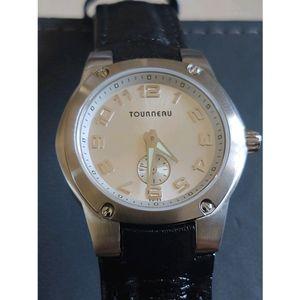 Tourneau Black Genuine Leather Watch for Gap Inc.